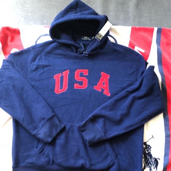 e9a123937 Polo Ralph Lauren USA fleece BNWT sweatshirt XL. NWT